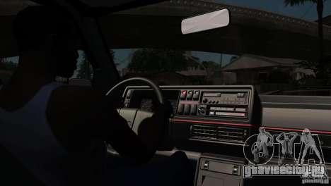 VW Golf 2 для GTA San Andreas вид сверху