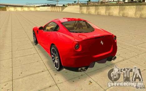 Ferrari 599 GTB Fiorano для GTA San Andreas вид сзади слева