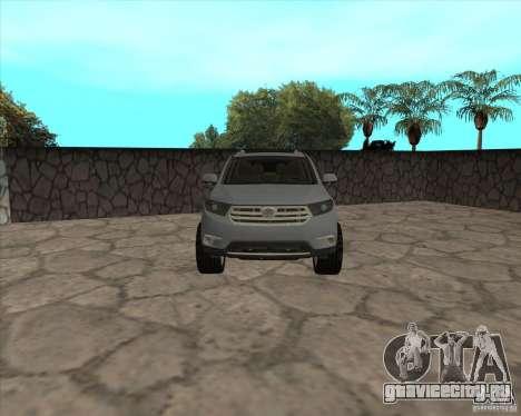 Toyota Highlander для GTA San Andreas вид справа
