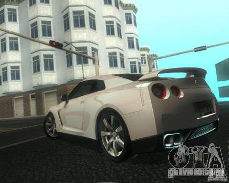 Nissan GTR R35 Spec-V 2010 Stock Wheels для GTA San Andreas колёса