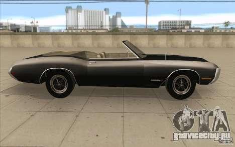 Buick Riviera GS 1969 для GTA San Andreas вид изнутри