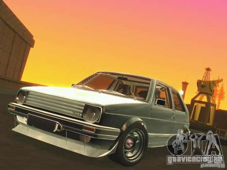 Volkswagen Golf MkII Racing для GTA San Andreas вид изнутри