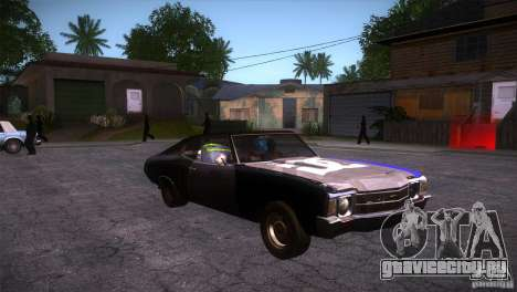 Chevrolet Chevelle SS DC для GTA San Andreas вид сзади