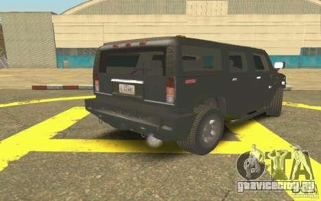 Hummer H2 Stock для GTA San Andreas вид справа
