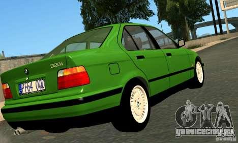 BMW E36 320i для GTA San Andreas вид сзади слева