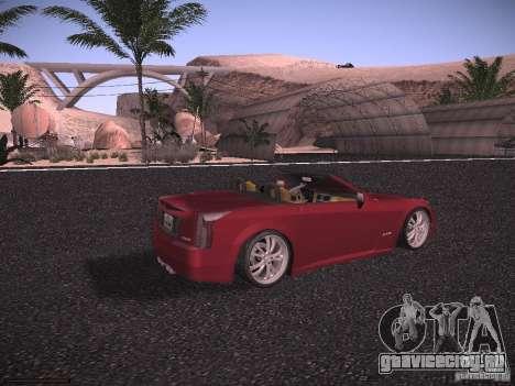 Cadillac XLR 2006 для GTA San Andreas вид сзади слева