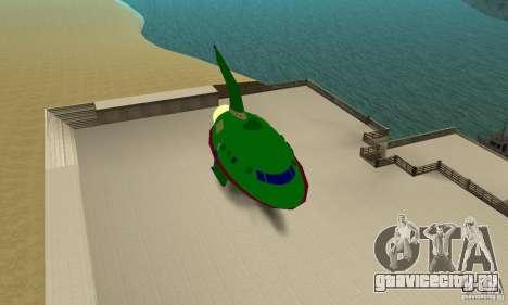 Planet Express для GTA San Andreas вид сзади слева