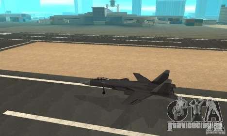 Су-47 «Беркут» Defolt для GTA San Andreas вид слева