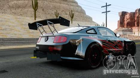 Ford Mustang 2010 GT1 для GTA 4 вид сзади слева