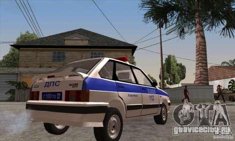 ВАЗ 2114 Полиция для GTA San Andreas вид справа