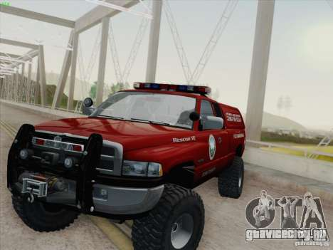 Dodge Ram 3500 Search & Rescue для GTA San Andreas салон