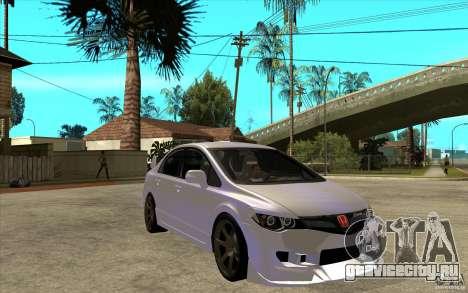 Honda Civic Mugen v1 для GTA San Andreas вид сзади