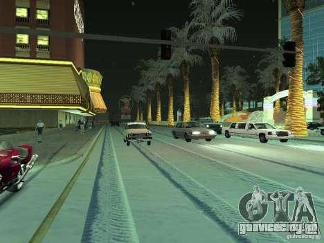 Снег v2.0 для GTA San Andreas второй скриншот