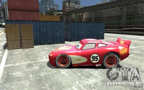 Lighting McQueen для GTA 4 вид слева