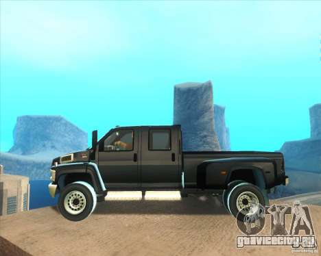 GMC Topkick C4500 2008 для GTA San Andreas вид слева