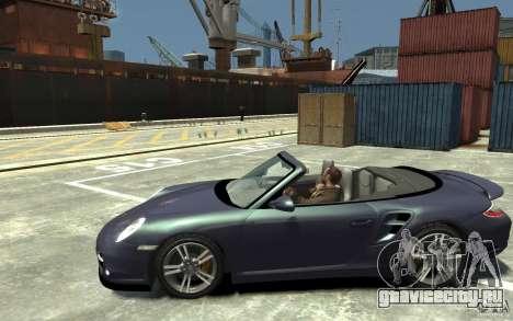 Porsche 911 Cabriolet 2010 для GTA 4 вид слева