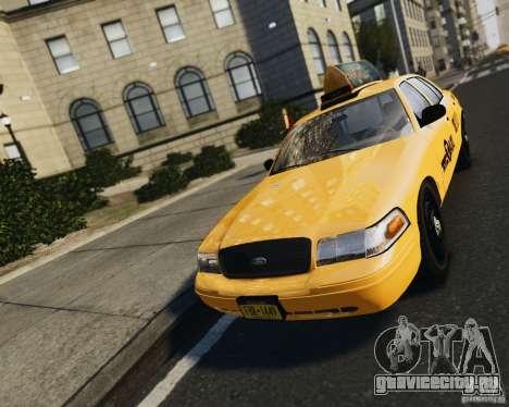 Ford Crown Victoria NYC Taxi 2012 для GTA 4 вид сзади