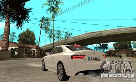 Audi S5 2008 для GTA San Andreas вид сзади слева