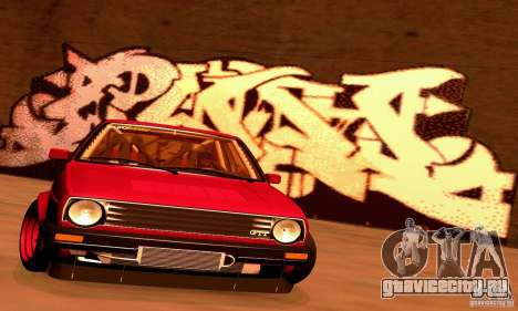 Volkswagen Golf MkII Racing для GTA San Andreas вид сзади слева
