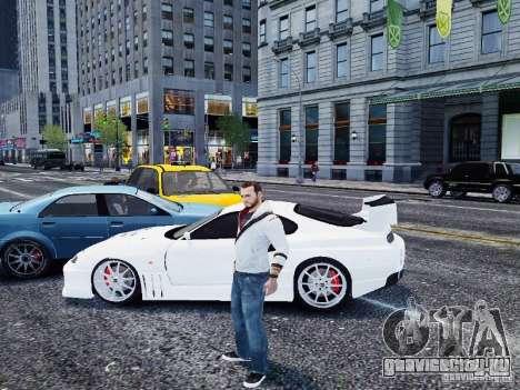 Toyota Supra Drift Setting для GTA 4 вид слева