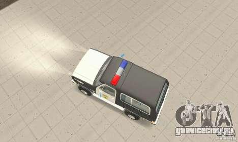 Chevrolet Blazer Sheriff Edition для GTA San Andreas вид справа