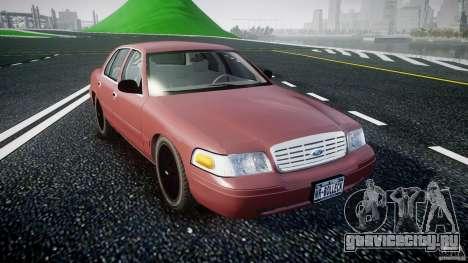 Ford Crown Victoria 2003 v.2 Civil для GTA 4 вид сзади