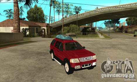 Ford Explorer 2004 для GTA San Andreas вид сзади