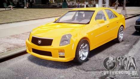 Cadillac CTS Taxi для GTA 4 вид сзади