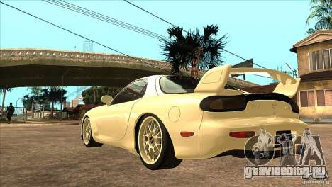 Mazda RX7 FD3S Type-R Bathurst для GTA San Andreas вид сзади слева