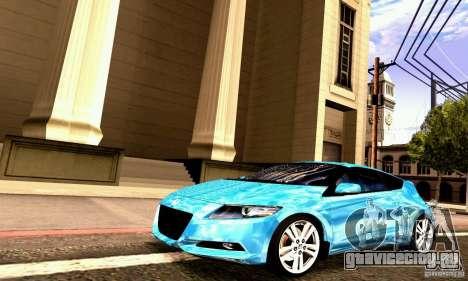 Honda CR-Z 2010 V2.0 для GTA San Andreas вид изнутри