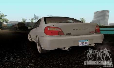 Subaru Impreza WRX STi TUNEABLE для GTA San Andreas вид слева