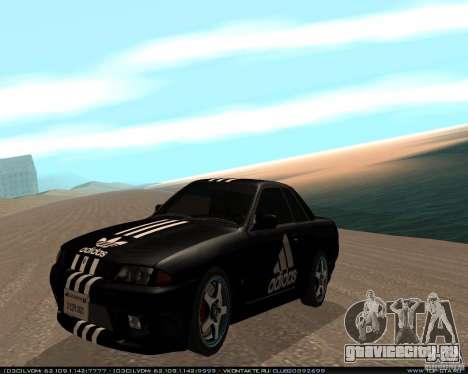 Nissan Skyline R32 GT-R + 3 винила для GTA San Andreas вид слева
