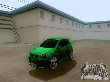 Volkswagen Golf V GTI для GTA San Andreas вид сзади слева