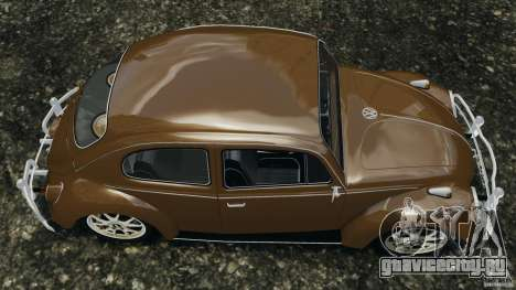 Volkswagen Fusca Gran Luxo v2.0 для GTA 4 вид справа