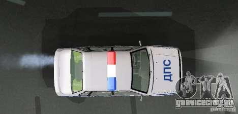 ВАЗ 2115 Полиция ДПС для GTA San Andreas вид сбоку
