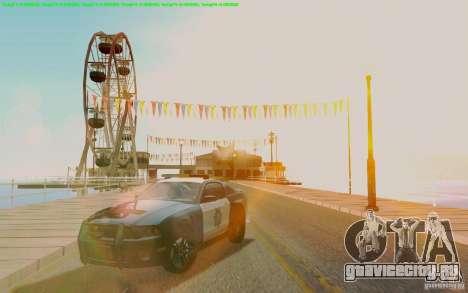 Ford Shelby Mustang GT500 Civilians Cop Cars для GTA San Andreas вид сзади