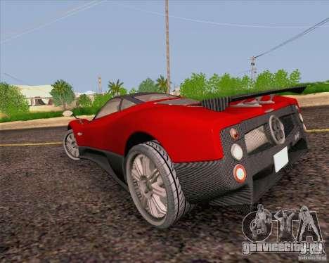 Pagani Zonda F v2 для GTA San Andreas вид сзади слева