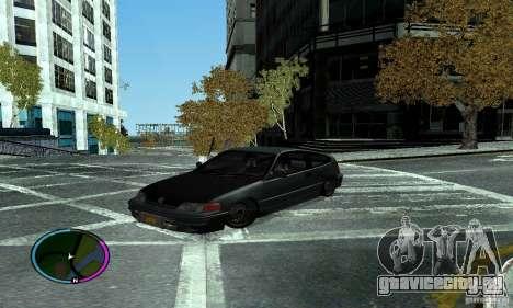 Honda CRX Tuned для GTA San Andreas вид сзади слева