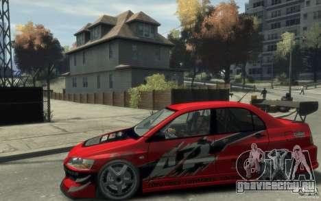 Mitsubishi Lancer для GTA 4 вид слева