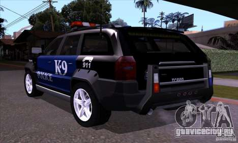 NFS Undercover Police SUV для GTA San Andreas вид сзади слева