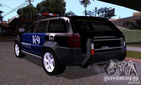 NFS Undercover Police SUV для GTA San Andreas вид сзади слева