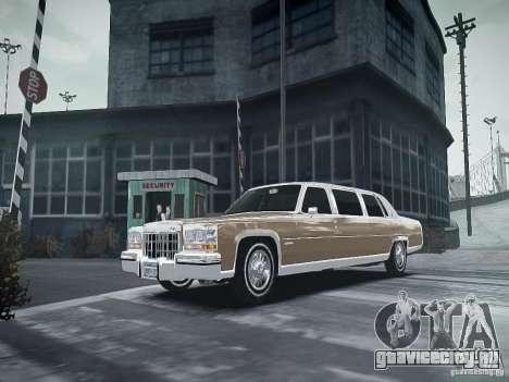 Cadillac Fleetwood 1985 для GTA 4 вид сзади