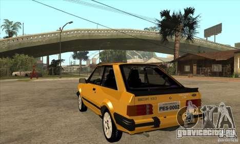 Ford Escort XR3 1986 для GTA San Andreas вид сзади слева