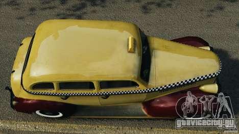 Shubert Taxi для GTA 4 вид справа