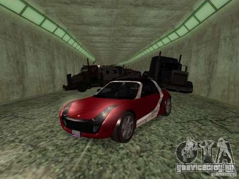 Smart Roadster Coupe для GTA San Andreas вид сзади