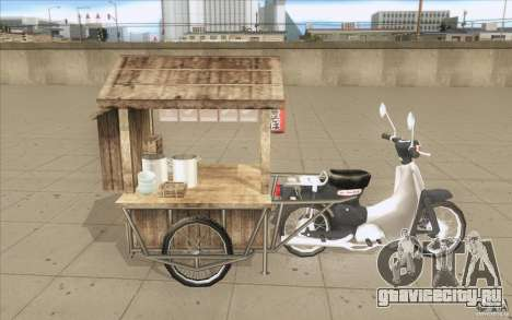 Honda Super Cub с повозкой для GTA San Andreas вид сбоку