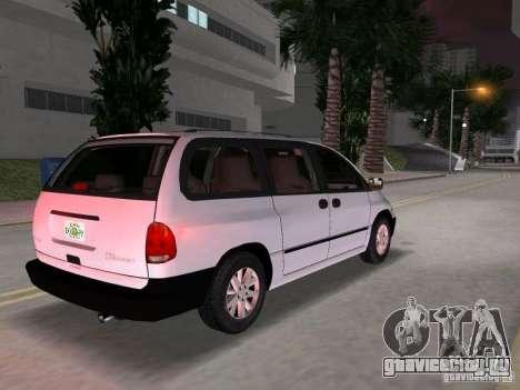 Dodge Grand Caravan для GTA Vice City вид сзади слева