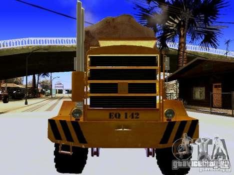 Hayes EQ 142 для GTA San Andreas вид изнутри