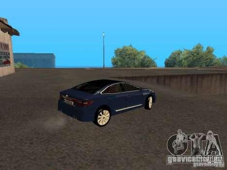 Hyundai Azera 2012 для GTA San Andreas вид справа