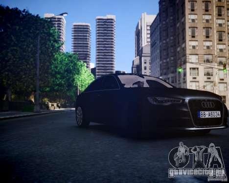 Audi A6 2012 для GTA 4 вид сзади слева